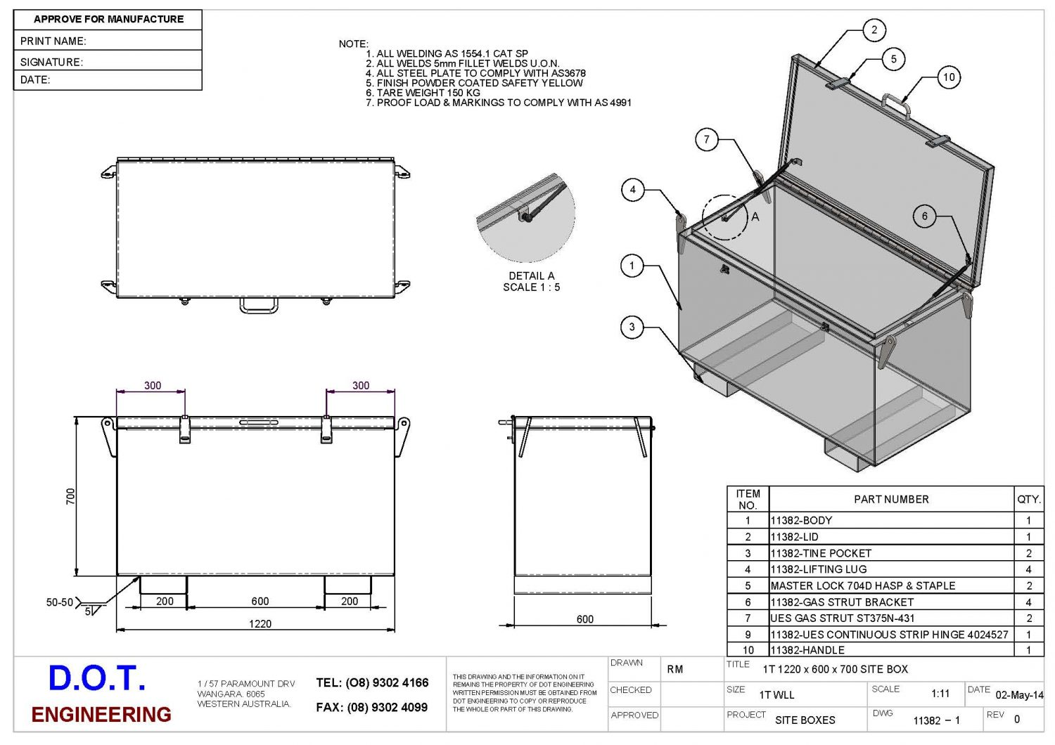 1t Wll Site Box D O T Engineering
