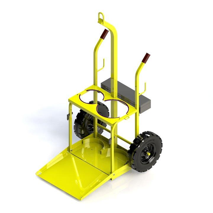 Oxy Acetylene Gas Bottle Trolley w/ Ramp » D O T  Engineering